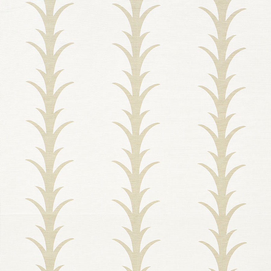 Schumacher Fabric Acanthus Stripe Sand 177630