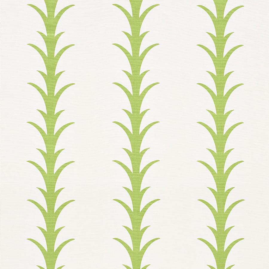 Schumacher Fabric Acanthus Stripe Leaf 177631