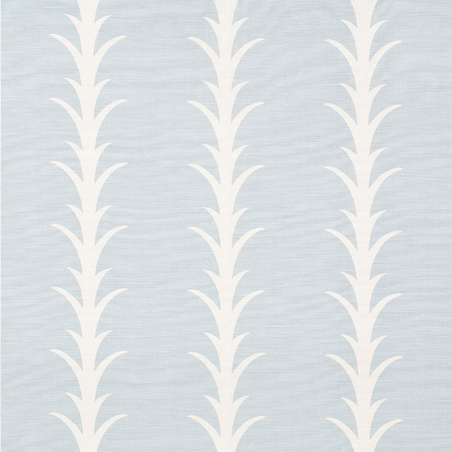 Schumacher Fabric Acanthus Stripe Sky 177633