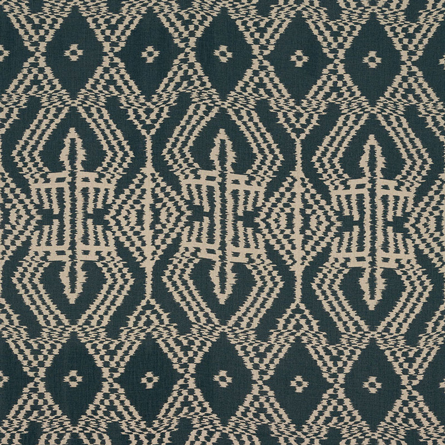 Schumacher Asaka Ikat in Charcoal 176094