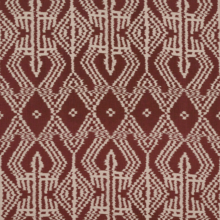 Schumacher Asaka Ikat in Raisin 176092