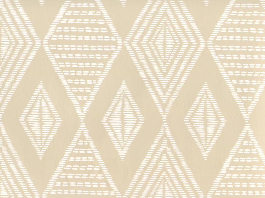 Quadrille Wallpaper Safari Beige on White AP855-BEIGE