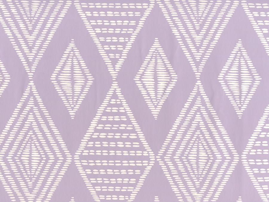 Quadrille Safari Wallpaper Soft Lavender on Almost White Paper AP855-04