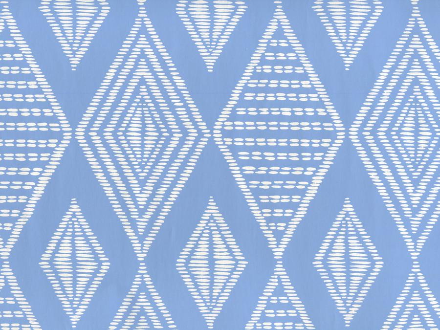 Quadrille Safari Wallpaper French Blue on Almost White Paper AP855-05