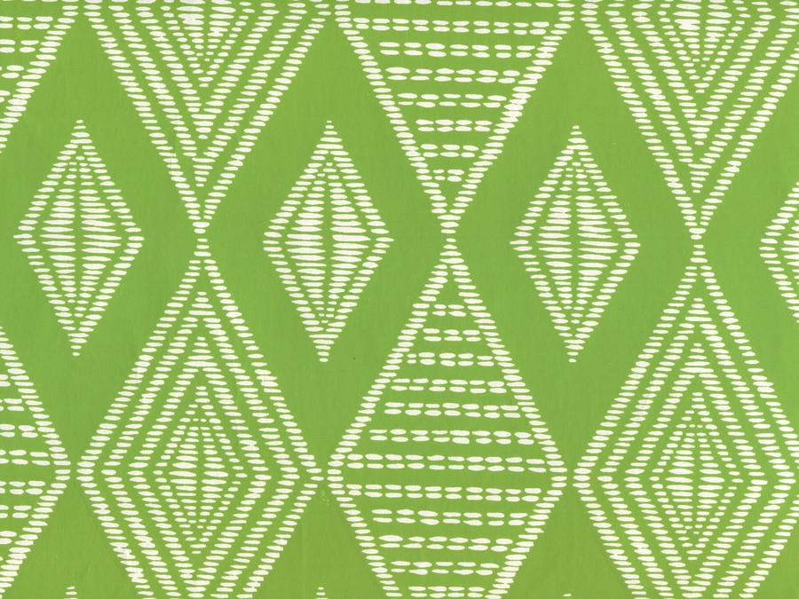 Quadrille Safari Wallpaper Lime on Almost White AP855-15