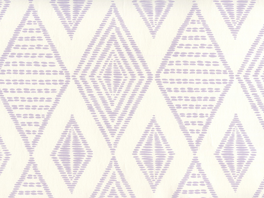 Quadrille Wallpaper Safari Embroidery Soft Lavender on Almost White AP850-04