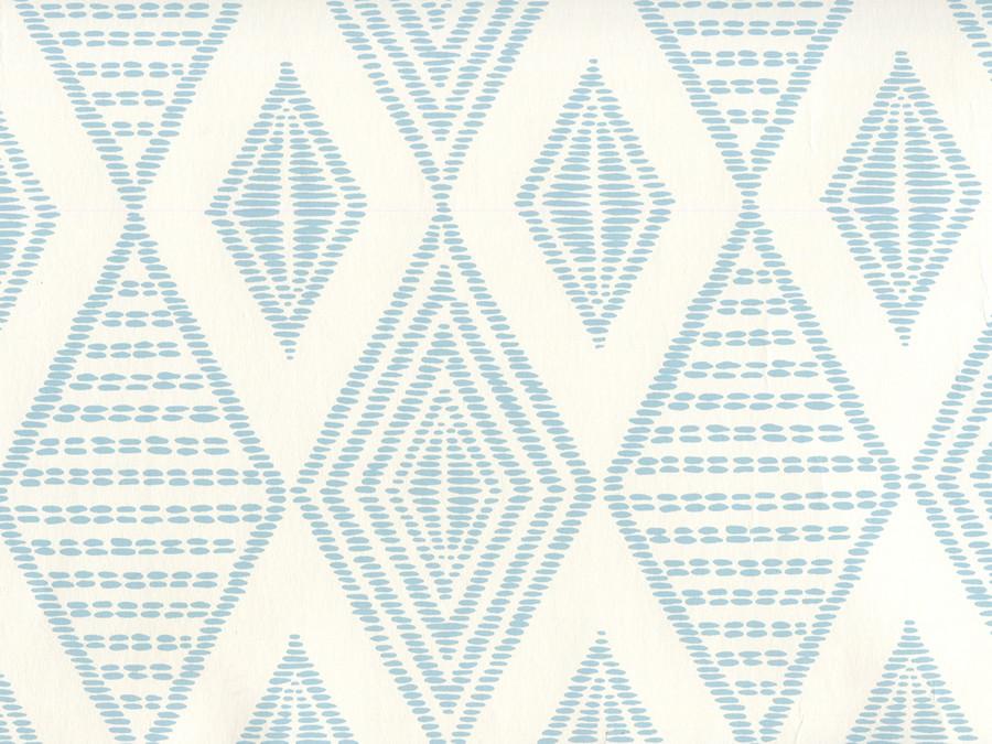 Quadrille Wallpaper Safari Embroidery Soft Windsor on Almost White AP850-02