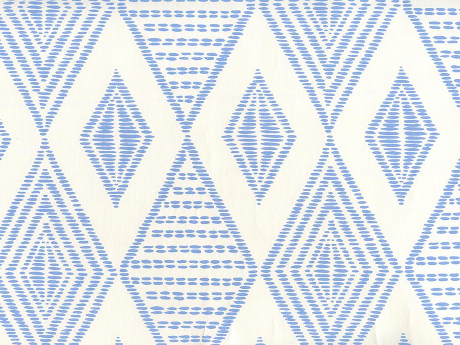 Quadrille Wallpaper Safari Embroidery French Blue on Almost White AP850-05