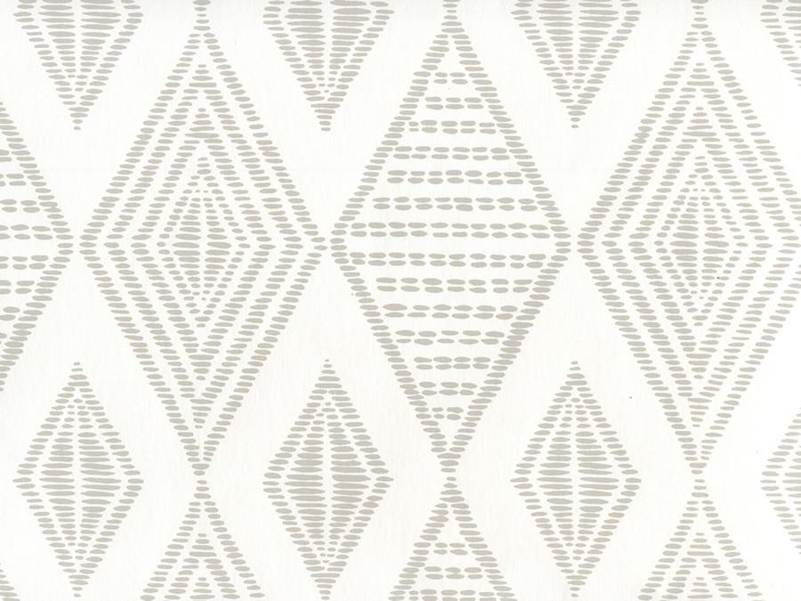 Quadrille Wallpaper Safari Embroidery Pale Grey on White AP850-PGREY