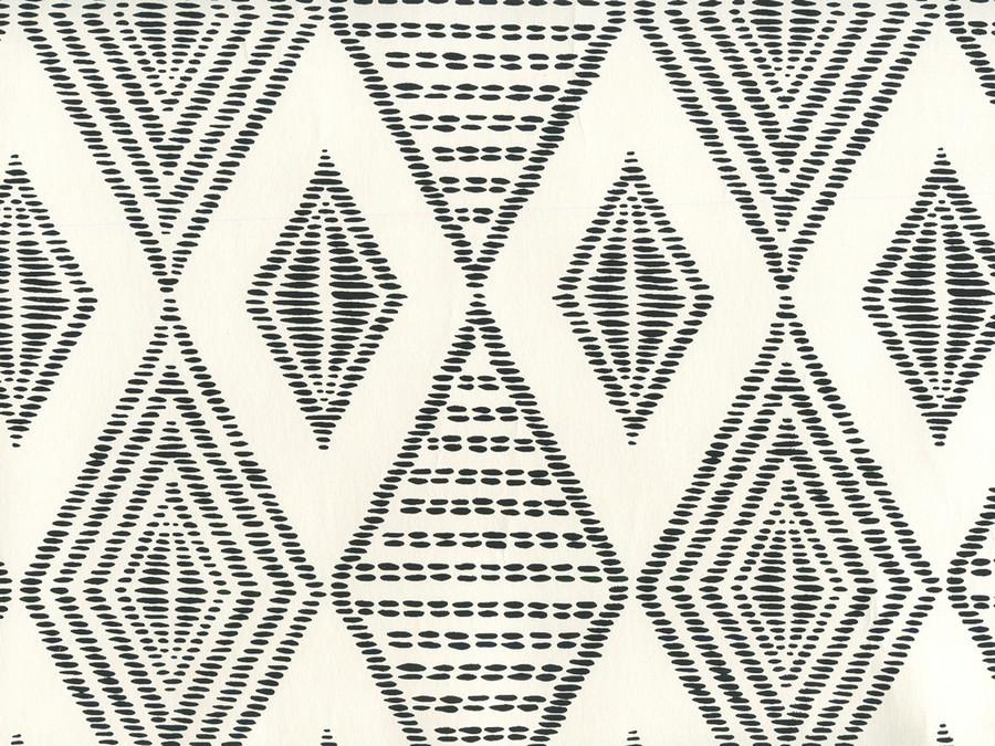 Quadrille Wallpaper Safari Embroidery Black on Almost White AP850-11
