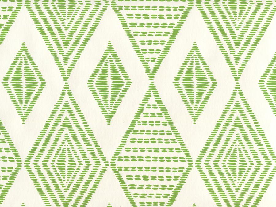 Quadrille Wallpaper Safari Embroidery Lime on Almost White AP850-15