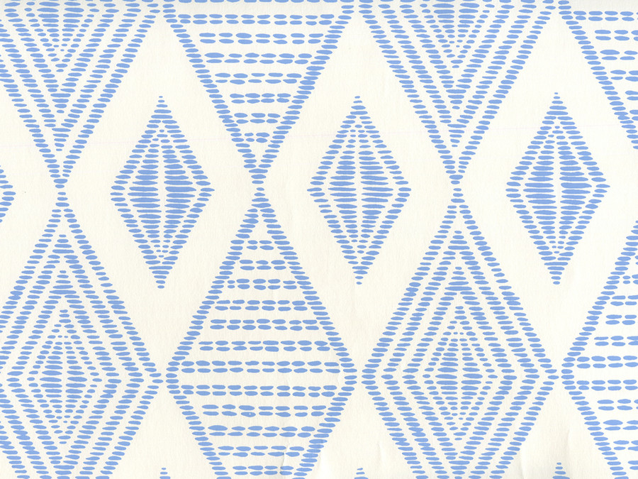 Quadrille Wallpaper Safari Embroidery French Blue on Almost White AP850-05