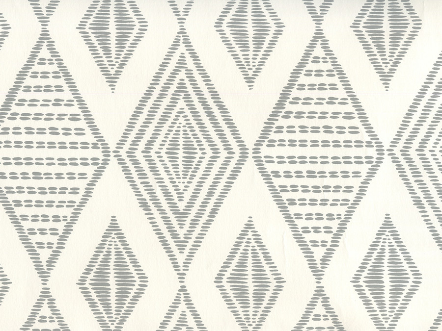Quadrille Wallpaper Safari Embroidery Medium Gray on Almost White AP850-07