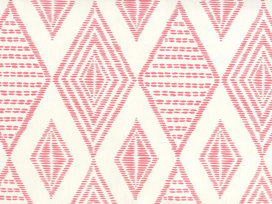 Quadrille Wallpaper Safari Embroidery Melon on Almost White AP850-01