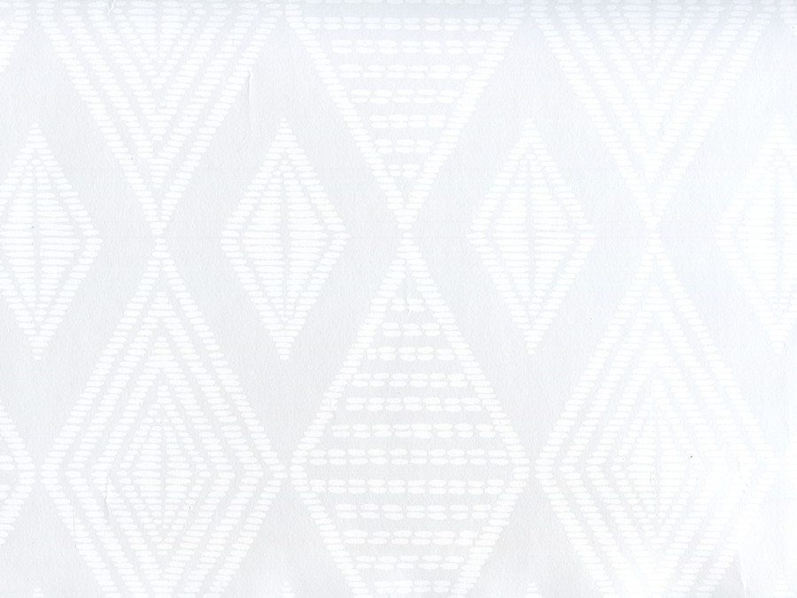 Quadrille Wallpaper Safari Embroidery White on Patent Vinyl AP850-PV00