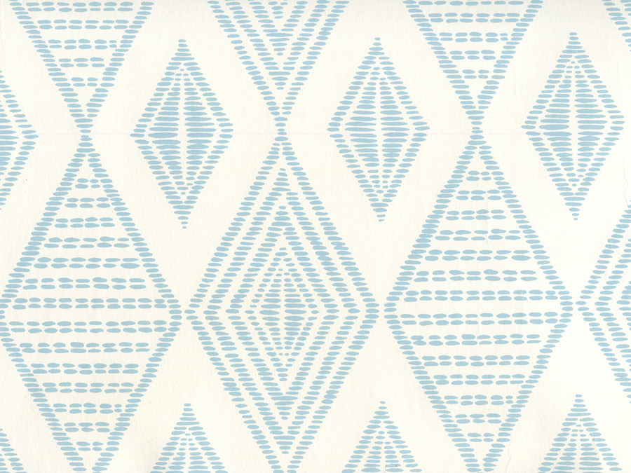 Quadrille Wallpaper Safari Embroidery Soft Windsor on Almost White AP850-02