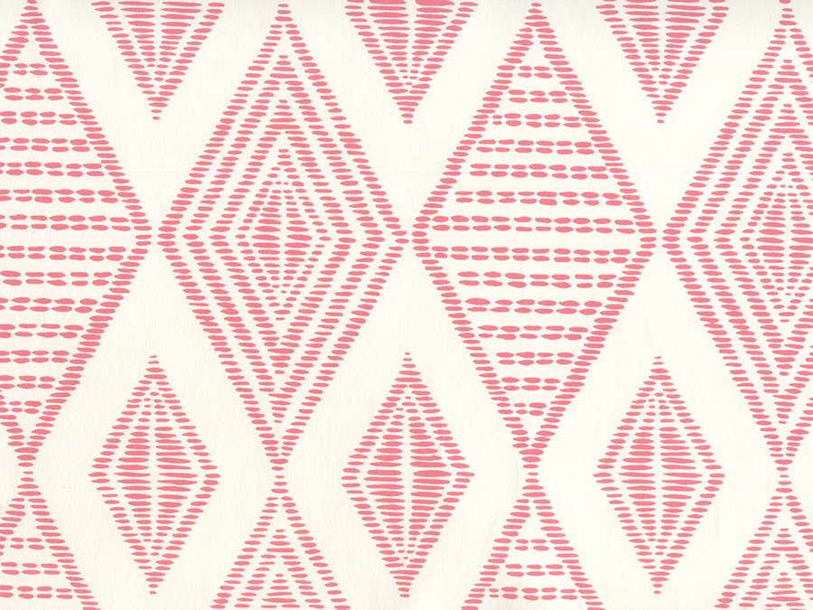 Quadrille Wallpaper Safari Embroidery Melon on Almost White AP850-01