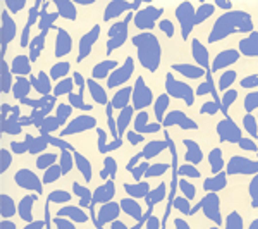 Quadrille Wallpaper Arbre de Matisse French Blue on Off White 2030-04WP