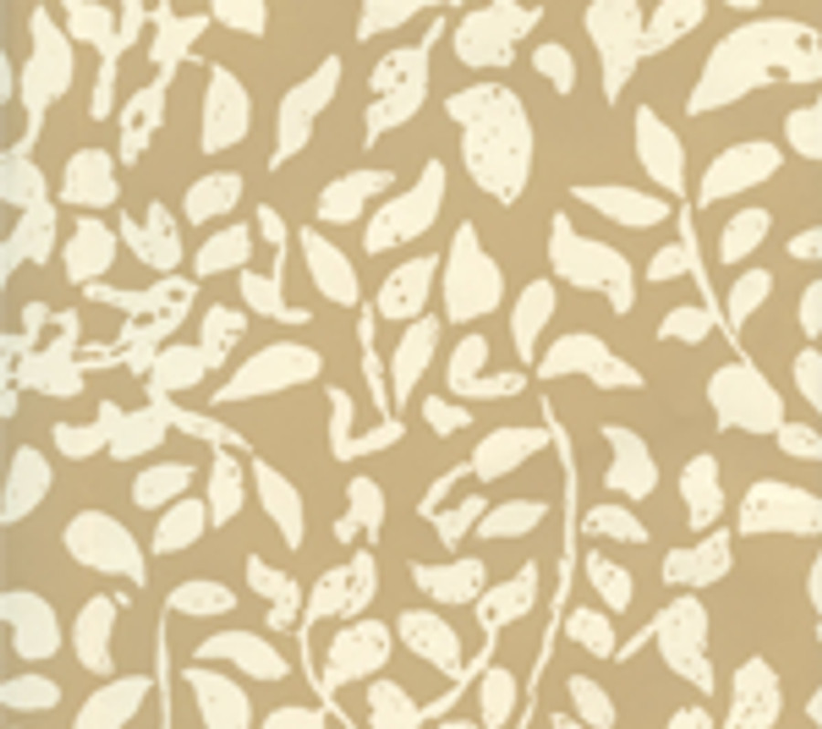 Quadrille Arbre de Matisse Reverse Wallpaper Camel II on Off White 2035-09WP