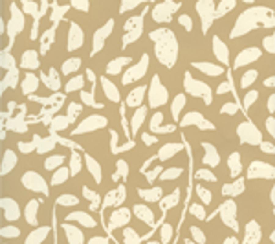 Quadrille Arbre de Matisse Reverse Wallpaper Camel II on Off White 2035-09WP