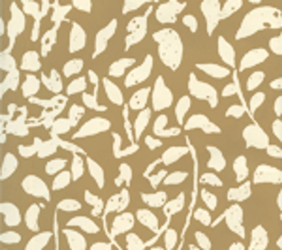 Quadrille Arbre de Matisse Reverse Wallpaper Taupe on Off White 2035-05WP