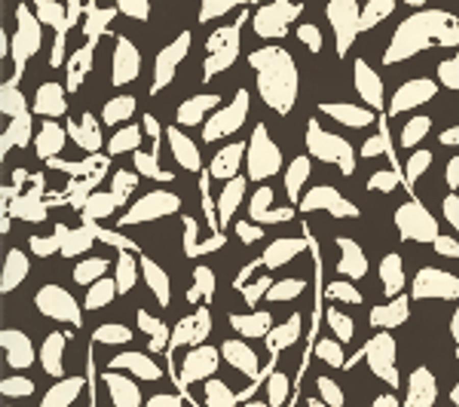 Quadrille Arbre de Matisse Reverse Wallpaper Brown on Off White 2035-07WP