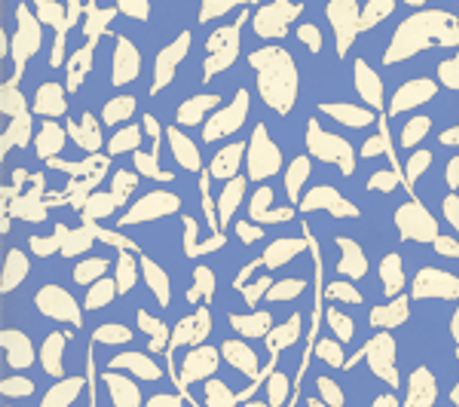 Quadrille Arbre de Matisse Reverse Wallpaper French Blue on Off White 2035-04WP