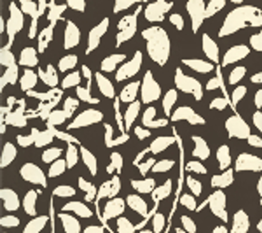Quadrille Arbre de Matisse Reverse Wallpaper Brown on Off White 2035-07WP