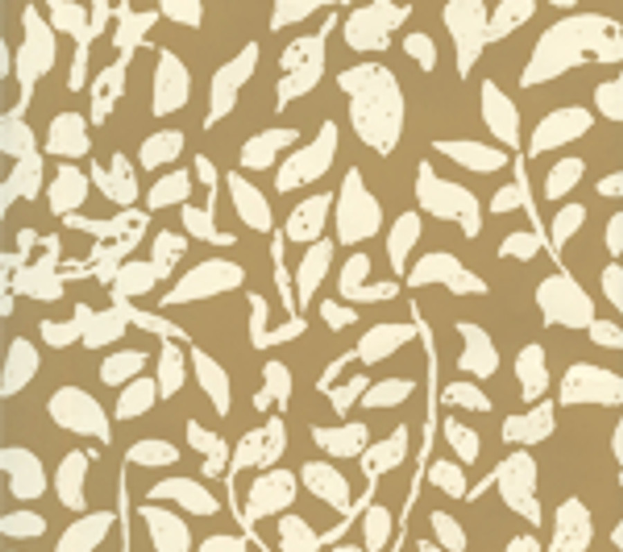 Quadrille Arbre de Matisse Reverse Wallpaper Taupe on Off White 2035-05WP