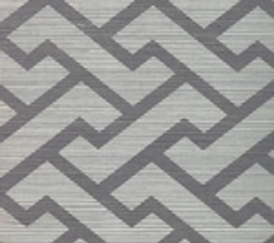 Quadrille Aga Wallpaper Silver on Silver Grasscloth 6340R-SILVER