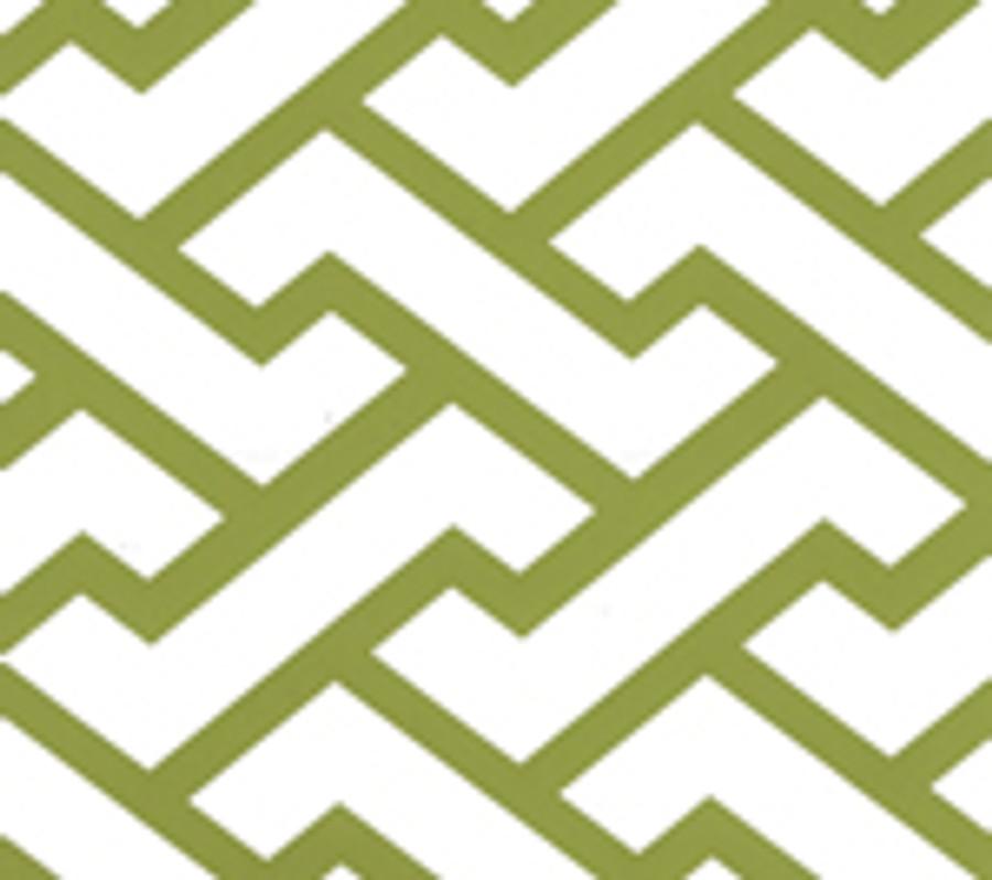 Quadrille Aga Wallpaper Apple Green on White Matte 6340-16WWM