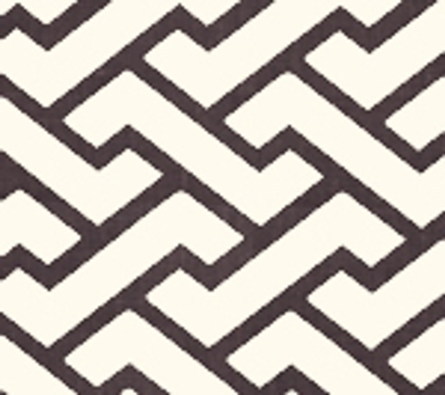 Quadrille Aga Wallpaper Brown on Tint 6340-09WP