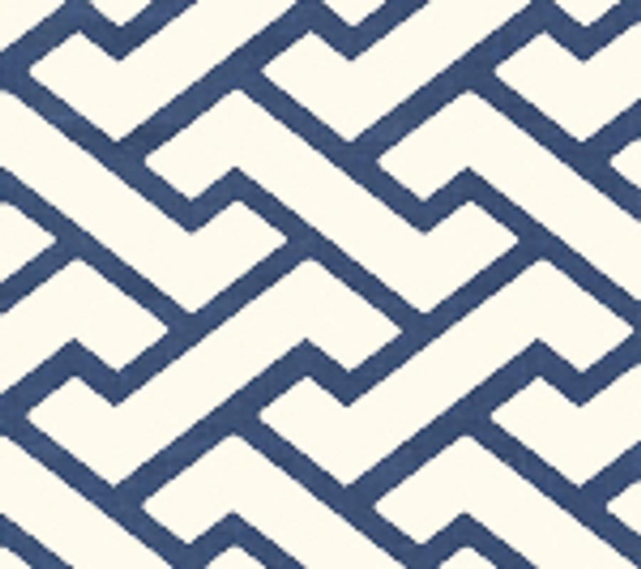 Quadrille Aga Wallpaper New Navy on Tint 6340-18WP