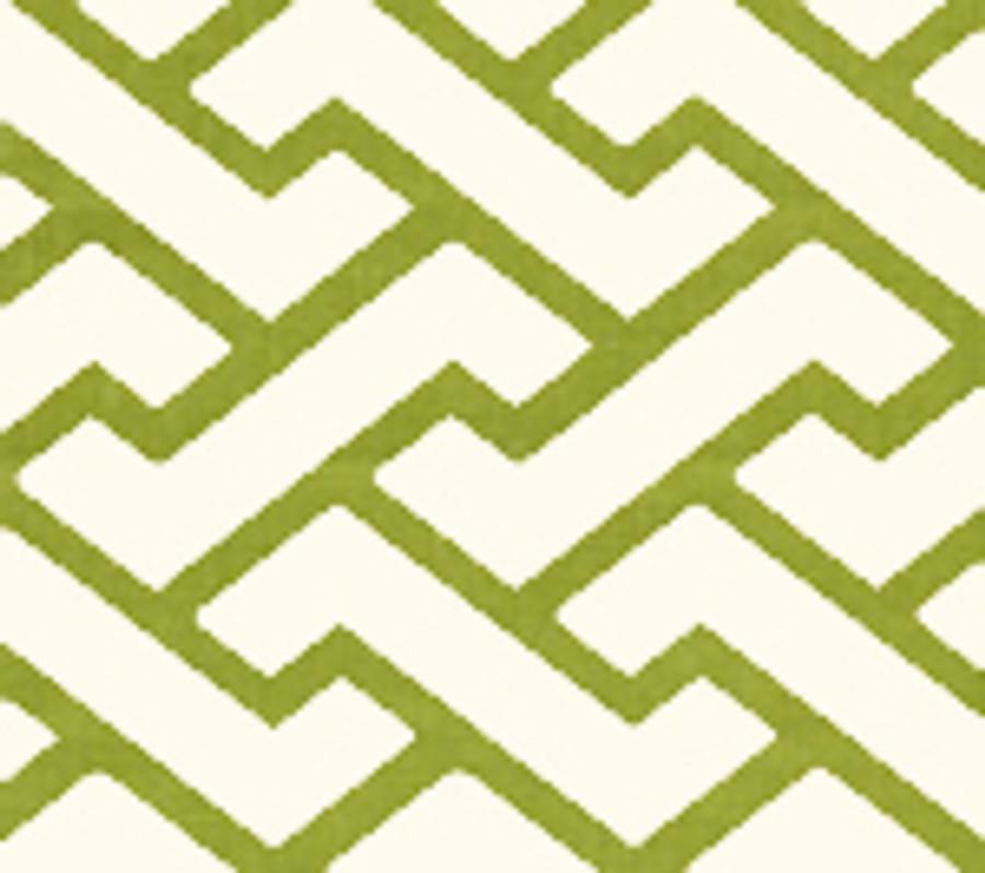 Quadrille Aga Wallpaper Pistachio Green on Tint 6340-14WP