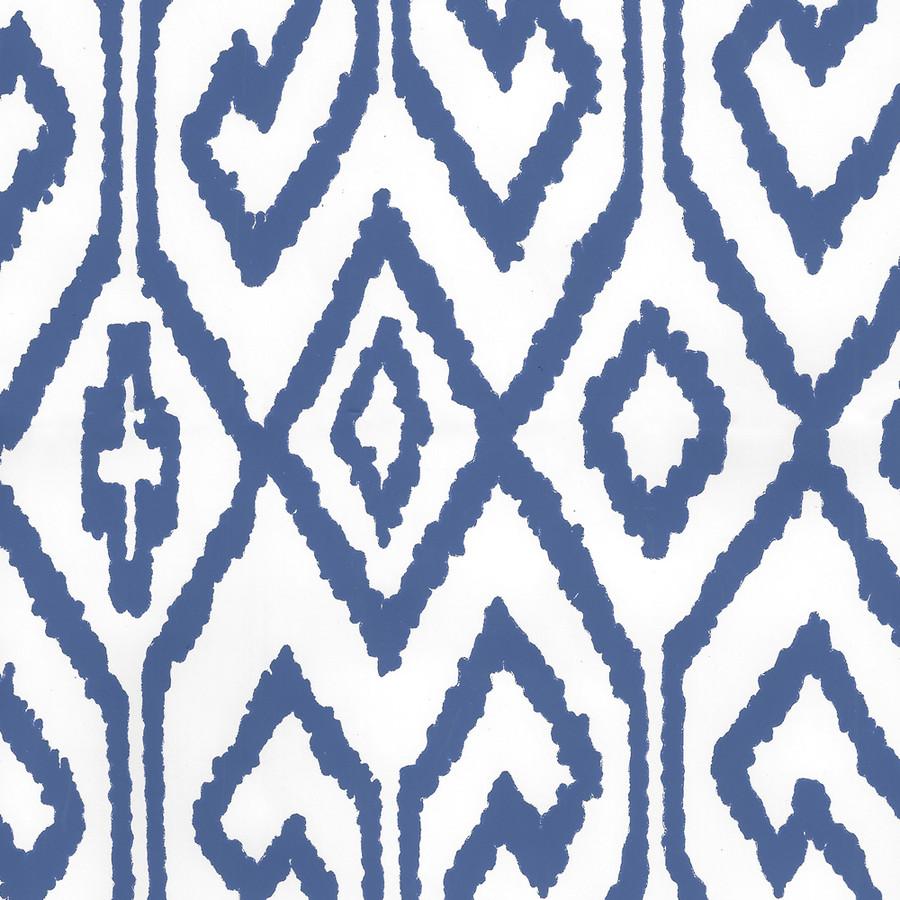 Quadrille Aqua IV Wallpaper Navy on White Vinyl 7240-13WPV