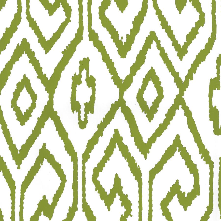 Quadrille Aqua IV Wallpaper Jungle Green on White 7240-03WP