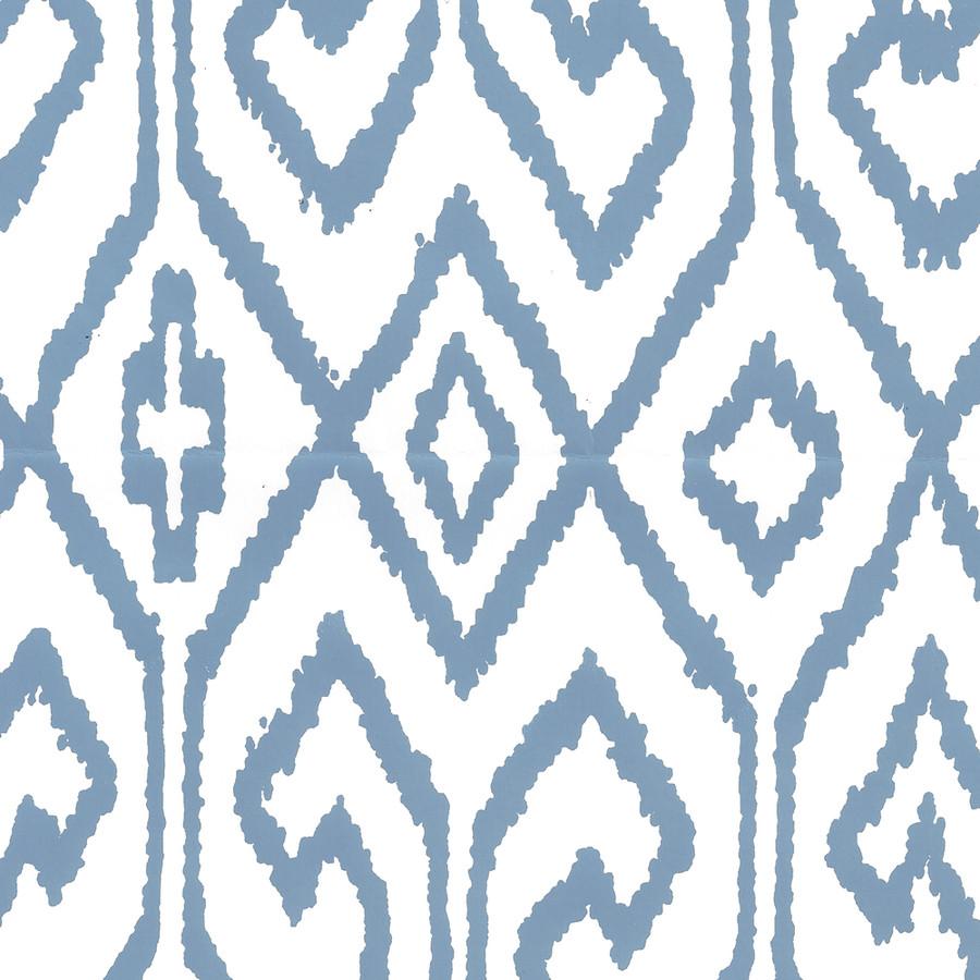 Quadrille Aqua IV Wallpaper French Blue on White 7240-08WP