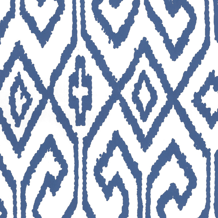 Quadrille Aqua IV Wallpaper Navy on White 7240-13WP