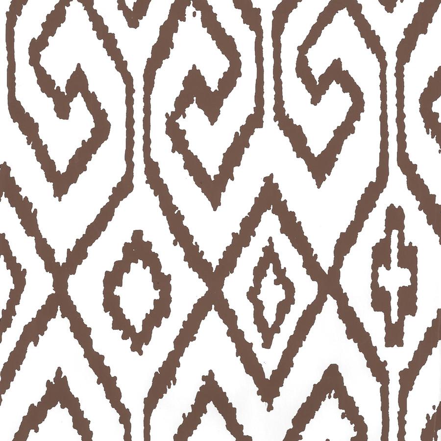 Quadrille Aqua IV Wallpaper Brown on White 7240-06WP
