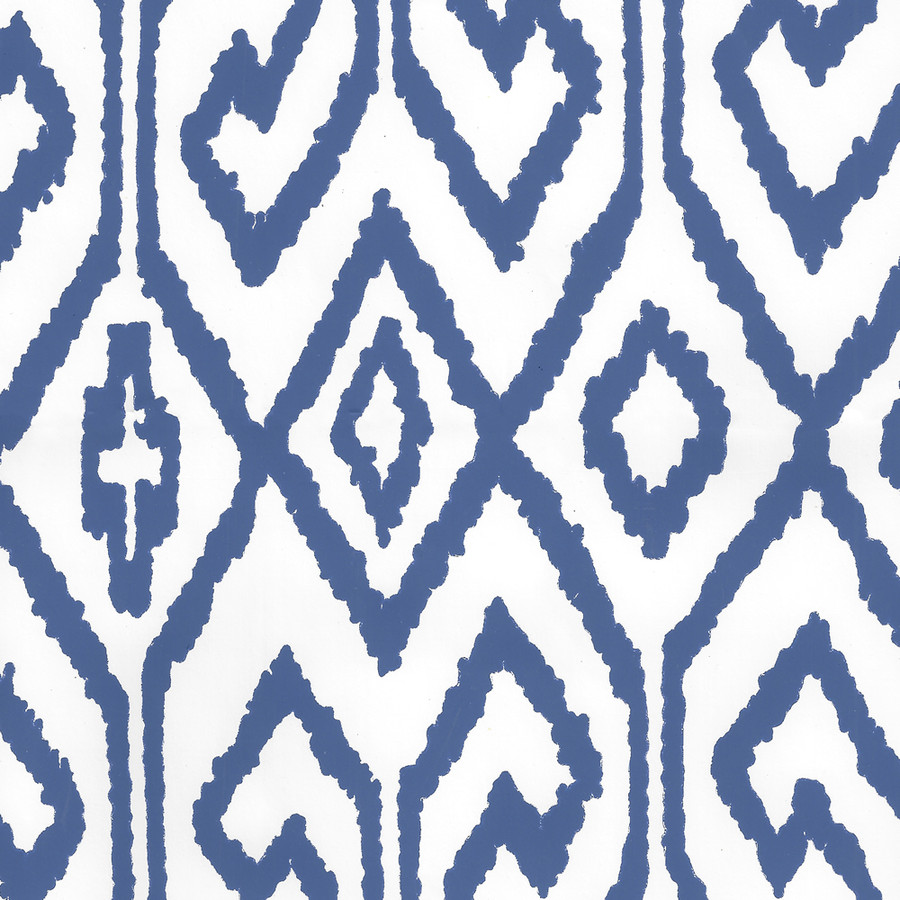 Quadrille Aqua IV Wallpaper Navy on White Vinyl 7240-13WPV