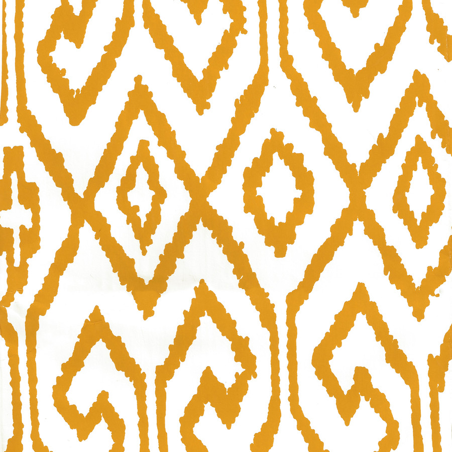 Quadrille Aqua IV Wallpaper Yellow on White 7240-02WP
