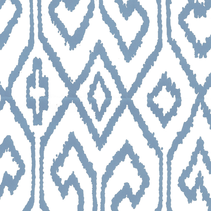 Quadrille Aqua IV Wallpaper French Blue on White 7240-08WP