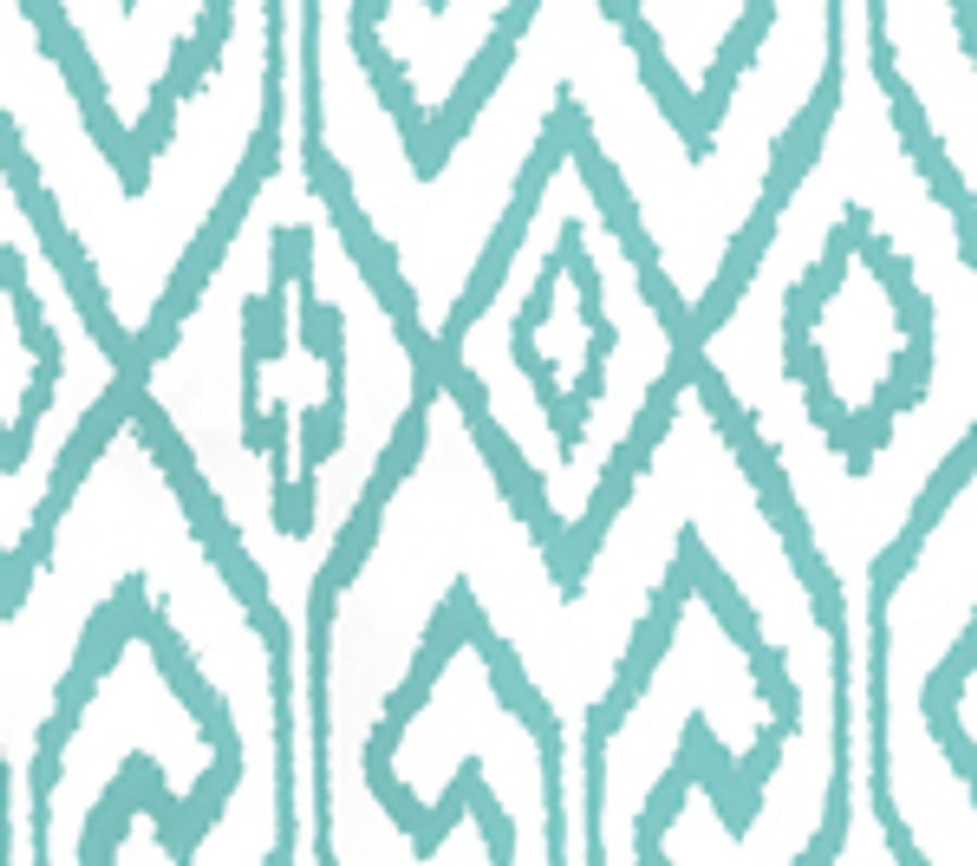 Quadrille Aqua IV Wallpaper Turquoise on White 7240-04WP