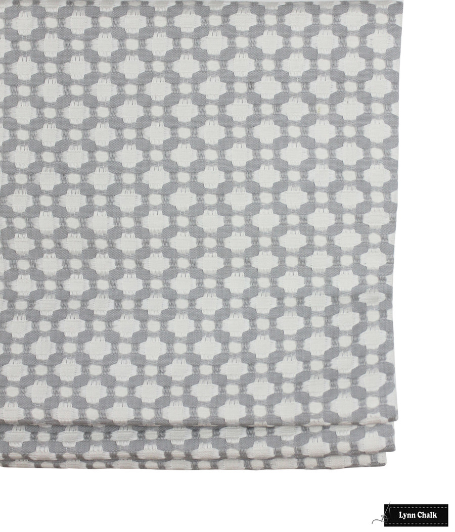ON SALE 50% Off- Schumacher Betwixt Zinc Blanc Pillow with Welting In Kravet Linen in Bleach (20 X 20)