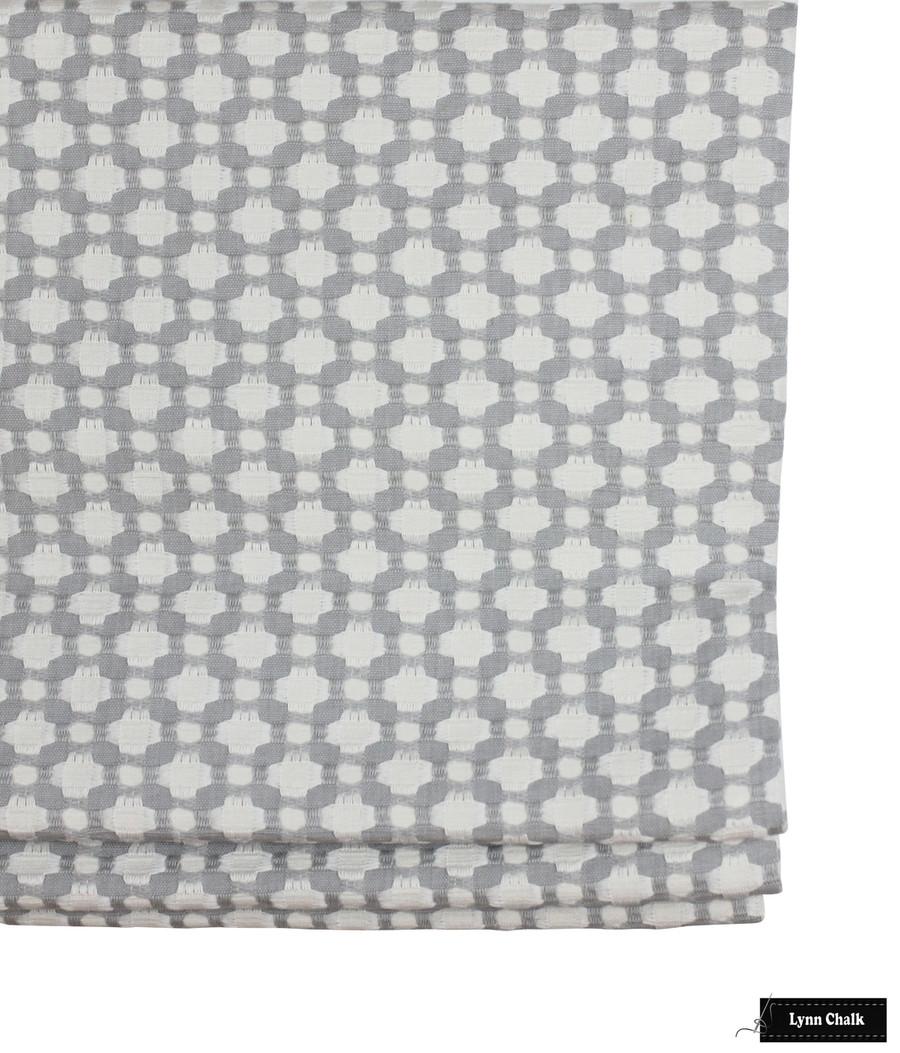 Roman Shade in Betwixt Zinc/Blanc