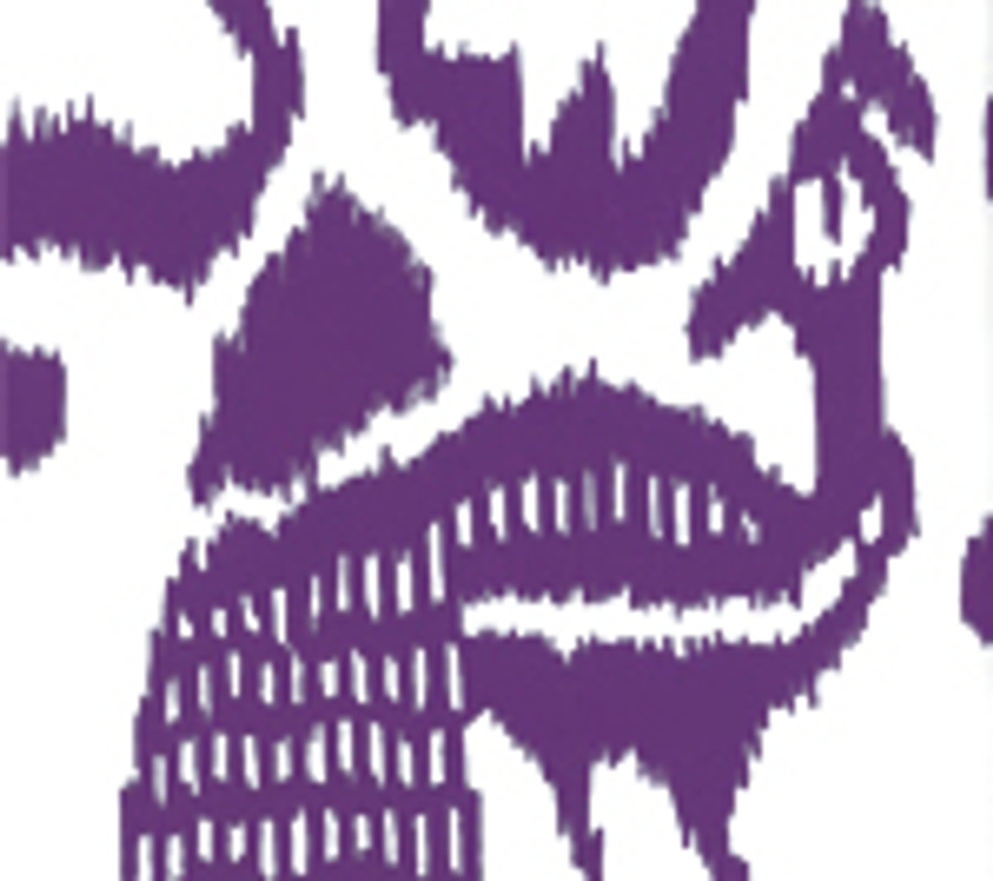 Quadrille Bali Isle Wallpaper Purple on  Off White 2435-40WP