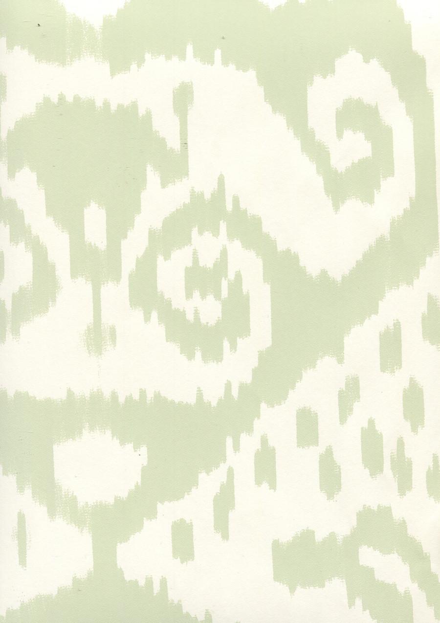 Quadrille Malaya Wallpaper Celadon on Almost White 306045W