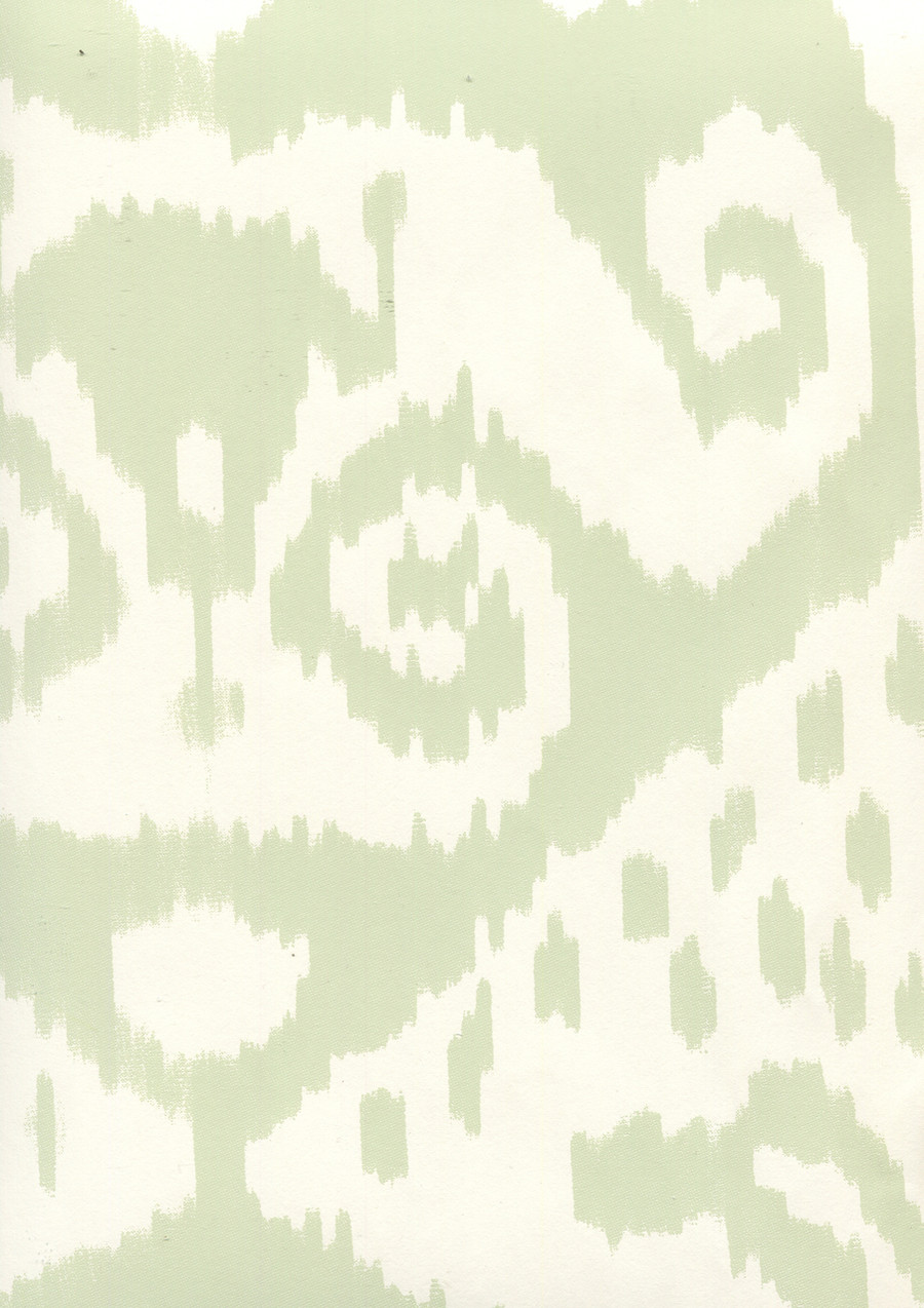 Quadrille Malaya Wallpaper Celadon on Almost White 306045W