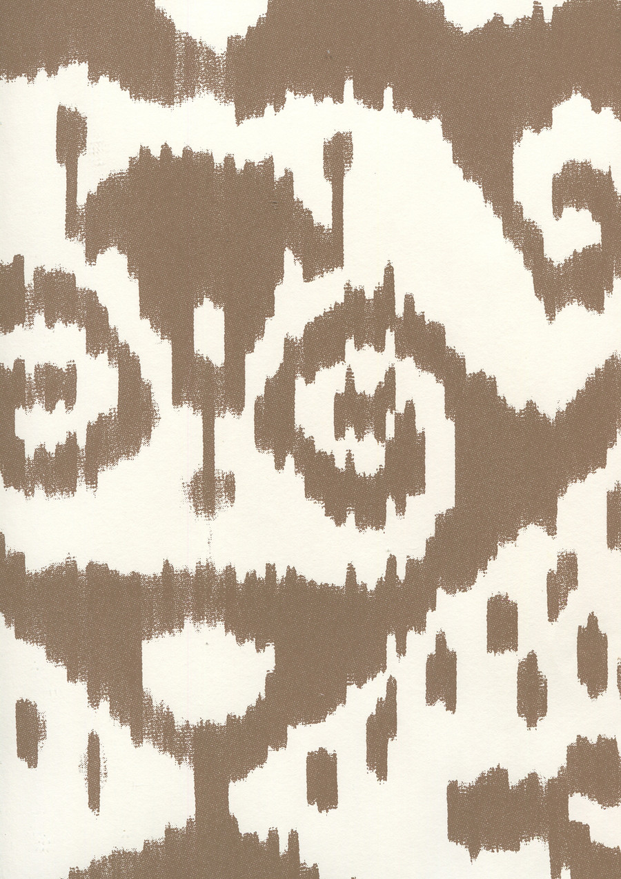 Quadrille Malaya Wallpaper New Brown on Almost White 306052W