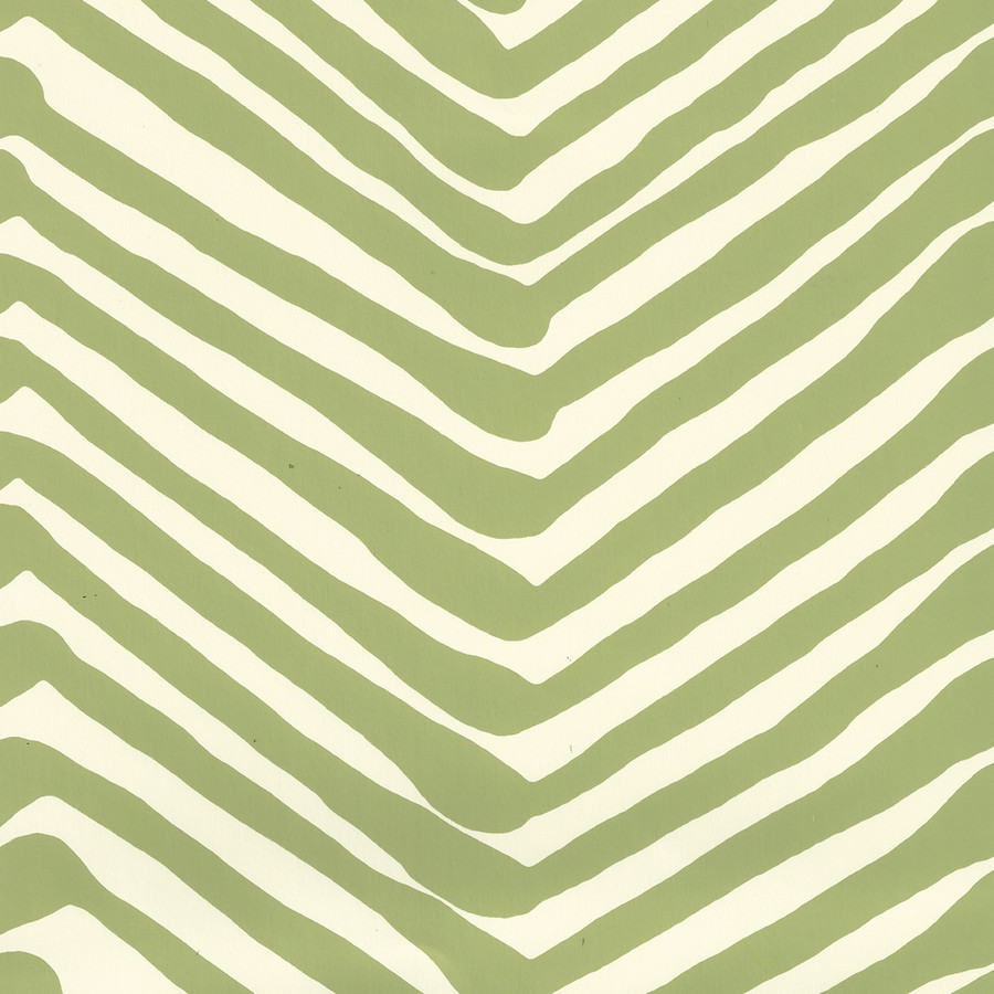 Quadrille Zig Zag Wallpaper Jungle Green on Off White AP302-32